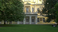 The beautiful Zofin Palace in Prague Stock Footage