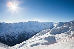 Snowy Mountains Of Otztal Alps In Tirol; Austria Stock Photos