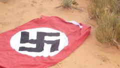 Nazi desert base africa campaign Stock Footage