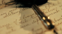 Vintage hand written letter Stock Footage