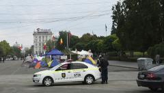 Protest in Chisinau, Moldova Stock Footage
