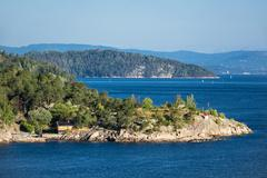 Landscape in the Oslofjord - stock photo