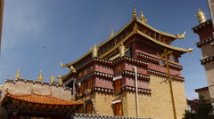 One Of Many Temples At Sumtsenling Monestary Stock Footage