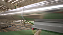 Steel pipes line Stock Footage