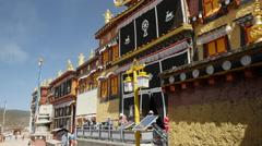 The Tibetan Ganden Sumtsenling Monastery Shangri-La China - stock footage