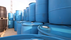 Chemical tank in storage yard Stock Footage