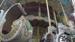French Merry Go Round Upshot Stock Footage