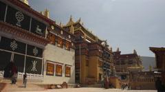 The Tibetan Ganden Sumtsenling Monastery Shangri-La China Stock Footage