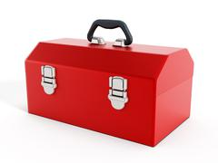 Red toolbox Stock Illustration
