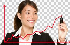 Business success growth chart - stock photo