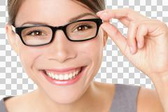 Eyewear glasses woman happy - stock photo