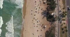 Aerial - Rio de Janeiro / Barra da Tijuca / Beach 02 Stock Footage
