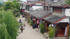 Lijiang Old Town A UNESCO Site In China Stock Footage