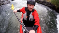 Whitewater  spin - stock footage