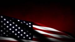 USA flag background - stock footage