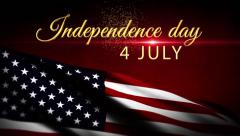 Independence day 4 july USA flag background, Honoring all who served america Stock Footage
