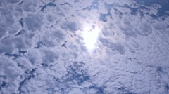Clouds on blue sky, time lapse - stock footage