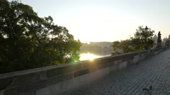 Beautiful sunny afternoon in Prague Stock Footage