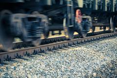 Stock Photo of train wheels