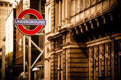 London Underground in Sepia Color Grading. Stock Photos