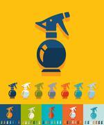 Flat design. sprayer - stock illustration