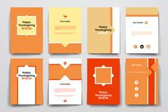 Stock Illustration of Set of brochure, poster design templates in autumn style