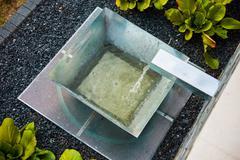 Stock Photo of Modern Garden Fountain Design.