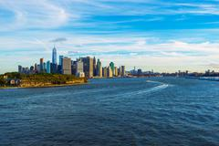 New York City Skyline, Upper Bay and East River Stock Photos
