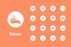 Set of news simple icons Stock Illustration