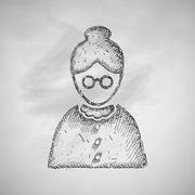 senior citizens icon - stock illustration