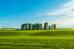 Iconic Stonehenge Prehistoric Monument in England, UK. - stock photo