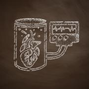 tissue engineering icon - stock illustration