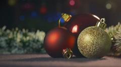 Three Christmas toys Stock Footage