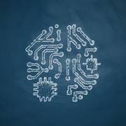 Artificial intelligence icon Stock Illustration