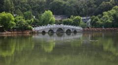 Black Dragon Pool In Jade Spring Park Stock Footage