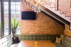 Contemporary loft interior Stock Photos