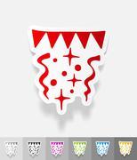 Stock Illustration of realistic design element. festive confetti