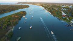 Noosa River Noosa Heads Queensland Australia Stock Footage