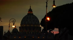 ULTRA HD 4K real time shot,The Vatican St Peters Basilica,Rome, Italy Stock Footage