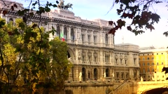 ULTRA HD 4K real time shot,The Supreme Court of Cassation,Rome Stock Footage