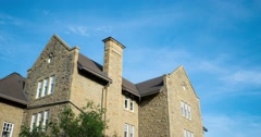 Hyperlaspe of Government House at the Royal Alberta Museum in Edmonton Alberta. Stock Footage
