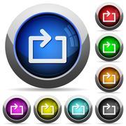 Media loop button set - stock illustration
