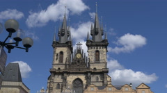 The Church of Our Lady before Týn's towers, Prague Stock Footage