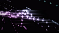 Dancing Bits Live VJ Loop Animation Graphics Stock Footage
