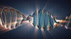 Stock Video Footage of DNA model rotate