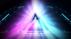 Triangulated Live VJ Loop Animation Graphics - stock footage