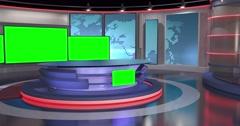 Contemporary News Studio 4K Stock Footage