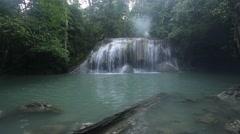 Erawan waterfalls Stock Footage