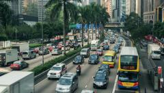 Traffic in Asian City - stock footage