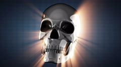 Loop rotate scull Stock Footage